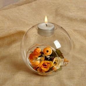 10 PCS  Romantic Wedding Dinner Decor Crystal Glass Candle Holder Art Candlestick, Size:8cm