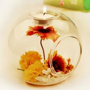 10 PCS  Romantic Wedding Dinner Decor Crystal Glass Candle Holder Art Candlestick, Size:10cm
