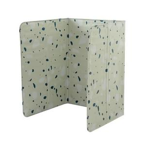 2 stuks gas kachel aluminiumfolie olie plaat keuken splash guard hoge temperatuur olie isolatie Board (geometrische groene achtergrond)