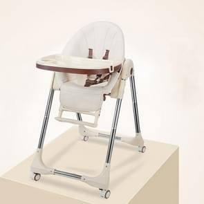 Portable Baby Seat Baby Dinner Table Multifunction Adjustable Folding Chairs for Children(Champagne with wheel)