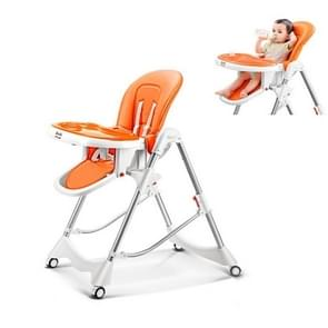 Multifunctional Portable Folding Foldable Baby Dining Chair(Orange)