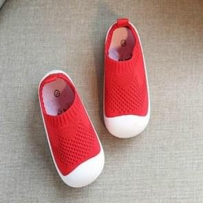 Infant Toddler Shoes Mesh Shoes Soft Bottom Non-slip, Size:17(Red)