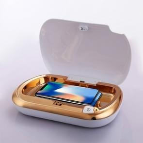 Mini draagbare UV ondergoed steriele machine draagbare Ozon desinfectie vak persoonlijke verzorging (goud)