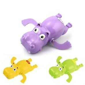 2 stuks badkamer kinderen spelen met water speelgoed cartoon Clockwork Toy (willekeurige kleur levering)  stijl: Hippopotamus