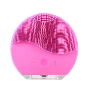 Electric Vibration Facial Cleansing Brush Skin Remove Blackhead Pore Cleanser Waterproof Silicone Face Massager(pink)