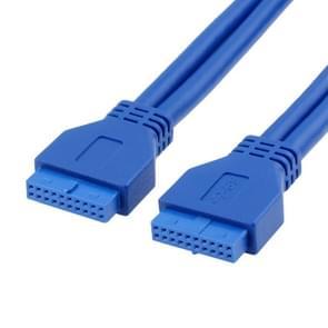 50cm USB3.0 kabel moederbord 20pin kabel moeder-naar-vrouw extensie conversie F-F