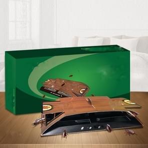 5 in 1 Kakkerlak Huis catcher huishouden niet-giftige Keuken Sticky Kakkerlak Board (Groen)