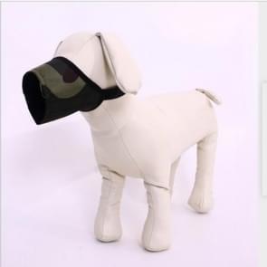 Huisdier leverancier hond snuit ademend nylon comfortabele zachte mesh verstelbaar huisdier Mondmasker voorkomen beet  grootte: 14cm (camouflage)