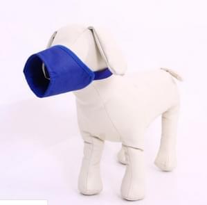 Huisdier leverancier hond snuit ademend nylon comfortabele zachte mesh verstelbaar huisdier Mondmasker voorkomen beet  grootte: 18cm (blauw)