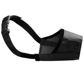 Huisdier leverancier hond snuit ademend nylon comfortabele zachte mesh verstelbaar huisdier Mondmasker voorkomen beet  grootte: 22cm (zwart)