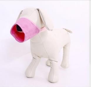 Huisdier leverancier hond snuit ademend nylon comfortabele zachte mesh verstelbaar huisdier Mondmasker voorkomen beet  grootte: 24cm (roze)