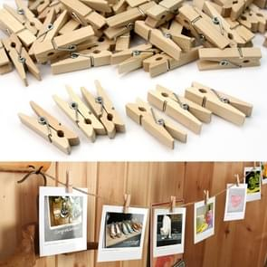 100 PCS  Mini Natural Wooden Clips Photo Clip Clothespin Craft Decoration Pegs,Size: 2.5×0.3cm