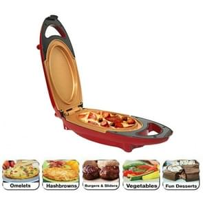 Dubbelcoated Smokeless non-stick 5 minuten chef-kok elektrisch fornuis barbecue pan pizza pot EU plug