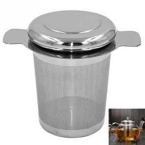 Tea Infuser Stainless Steel with Lid as Drip Tray Tea Strainer