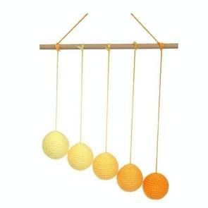 Montessori DIY Visual Practice Charm Birth Baby Gradient Color Paste Ball Hanging Gobbi(Yellow)