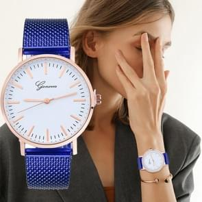 Quartz Silicone Wristband Watch for Women(Blue)