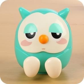 Universal Plastic Cute Owl Kawaii Book Holder Lazy Stand Tablet Desk Candy Color  Money-box Office Supply(Green)