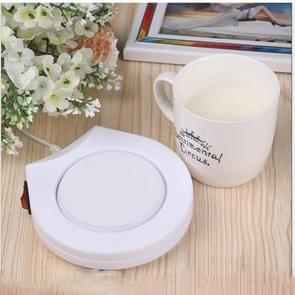 2 PC'S drank kachel tray pad melk thee koffie mok warme dranken Cup kachel  vorm: ronde (wit)