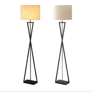 Simple Creative Button Bedroom Sofa Stand Floor Lamp(Linen)