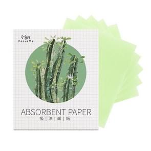 SK218 2 PCS Flamingo Linen Cleansing Oil Absorbing Paper Face Cleaning Tool(Green)