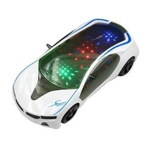 3D Supercar Style Electric Toy With Wheel Lights Music Singing Kids Boys Girls Gift Electric Universal(As show)