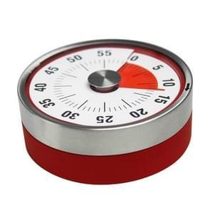 Keuken timer countdown timer met magnetische roestvrijstalen timer, kleur: 8cm rood
