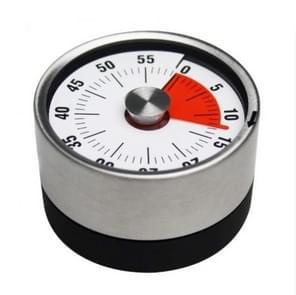 Keuken timer countdown timer met magnetische roestvrijstalen timer, kleur: 6cm zwart