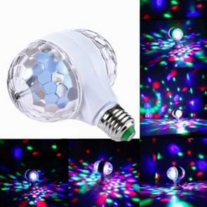 E27 6W LED Double Head Kleurrijke Lamp roterende Magic Ball Stage Licht Laser Projectie lamp