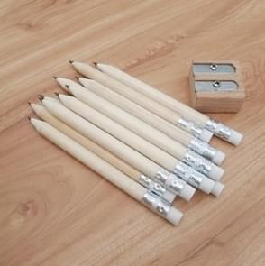 12 stuks geslepen potlood ronde schrijven pen houten student briefpapier met gum  lood hardheid: HB (hout)