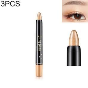 3 STKS Professional Beauty Highlighter oogschaduw potlood (14 rijst bruin goud)