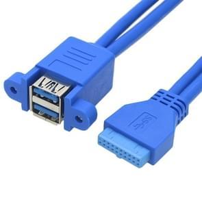 Moederbord 20pin Draai dubbele USB3.0 verlengkabel met ear baffle kabel