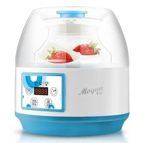 Yogurt Machine Household Automatic Glass Liner Multifunction Rice Wine Maker(Blue White)
