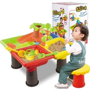 Outdoor Sandy Beach Table Toys Set for Kids(Tree and Square Table)