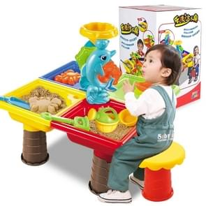 Outdoor Sandy Beach Table Toys Set for Kids(Dolphin and Square Table)