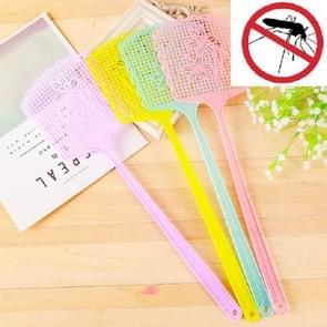 10 PCS Plastic Geprinte Fly Swatter  Random Color Delivery