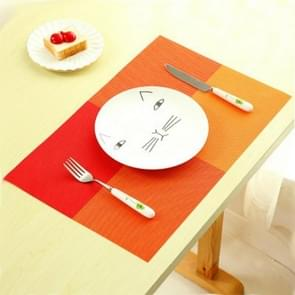 2 PCS PVC Dining Table Placemat Europe Style Kitchen Tool Tableware Pad Coaster Coffee Tea Place Mat(Orange)