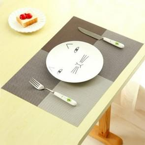 2 PCS PVC Dining Table Placemat Europe Style Kitchen Tool Tableware Pad Coaster Coffee Tea Place Mat(Coffee)
