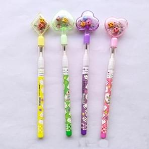 10 PCS Kawaii Automatic Pencil Geometry Mechanical Pencil Children Stationery Supplies, Random Color