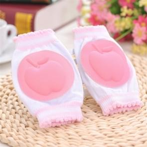 Baby peuters leren lopen Anti slip Kniebeschermer ademend knie pad (roze)