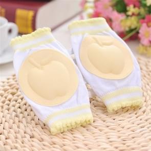 Baby peuters leren lopen Anti slip Kniebeschermer ademend knie pad (geel)