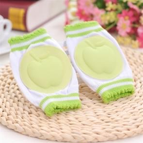 Baby peuters leren lopen Anti slip Kniebeschermer ademend knie pad (groen)
