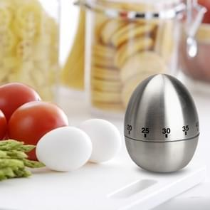 Mechanical Egg Kitchen Cooking Timer Alarm 60 Minutes Stainless Steel  Kitchen Tools