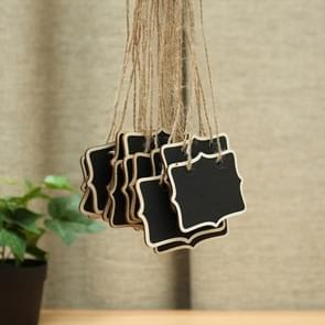 12 PCS Mini Blackboard Wood Message Board Chalkboard with String Wedding Home Party Decor
