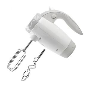 Handheld Double-ended Electric Egg Beater Speed Adjust Household Baking Tool(White)