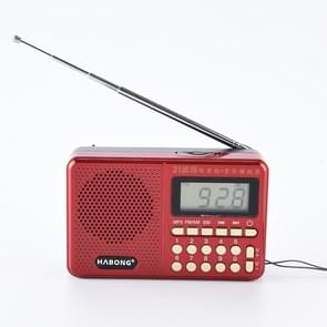 3 PCS HABONG KK-170 Portable 21 Bands FM/AM/SW Radio Rechargeable Radio Receiver Speaker,  Support USB / TF Card / MP3 Music Player