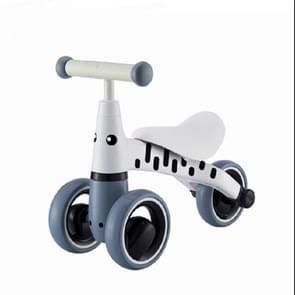 Baby Walker balans auto zonder pedalen baby glijdende Walker 1-3 jaar oude kinderen Slide auto (grijs wit)