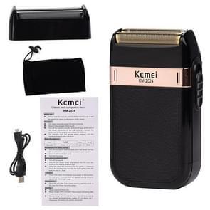 Kemei Cordless Electric Shaver Men Twin Blade Waterproof Reciprocating Razor USB Rechargeable Shaving Machine