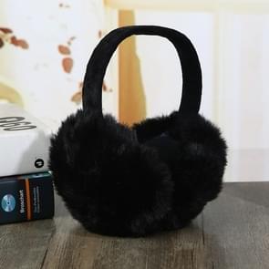 6PCSFaux Rabbit Fur Women Comfortable Warm Ear Cover Ear Adjustable(black)