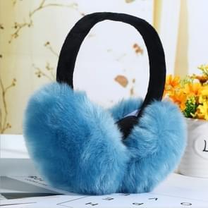 6PCSFaux Rabbit Fur Women Comfortable Warm Ear Cover Ear Adjustable(denim blue)