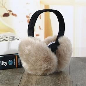 6PCSFaux Rabbit Fur Women Comfortable Warm Ear Cover Ear Adjustable(Khaki)